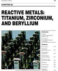 AWS- BHC30 - Reactive Metals: Titanium, Zirconium, and Berylium
