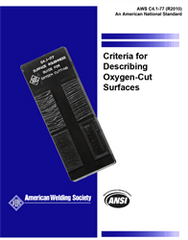 AWS- C4.1:1977(R2010) Set, Criteria for Describing Oxygen-Cut Surfaces, and Oxygen Cutting Surface Roughness Gauge