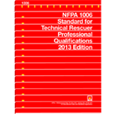 NFPA-1006(13): Standard for Technical Rescuer Professional Qualifications