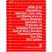 NFPA-2113(15): Standard on Selection, Care, Use, and Maintenance of Flame-Resistant Garments for Protection of Industrial Personnel Against Flash Fire