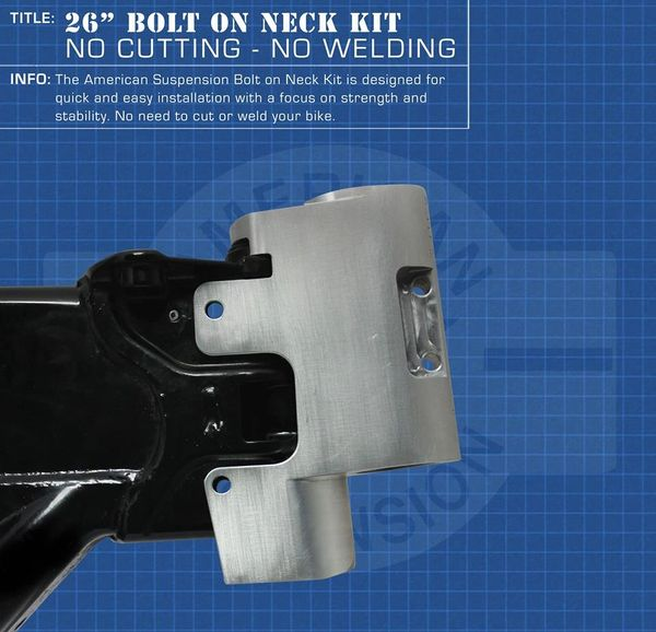 "American Suspension Bolt On Neck and Trees for 26"" or 30"" Wheel - No Cutting or Welding!!!"