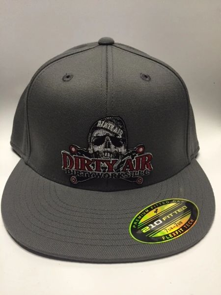 DIRTY AIR Flat Bill Fitted Flexfit Hat
