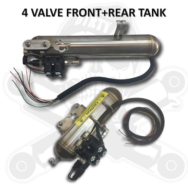 DIRTY AIR Tank with 4 valve manifold - Stainless Steel