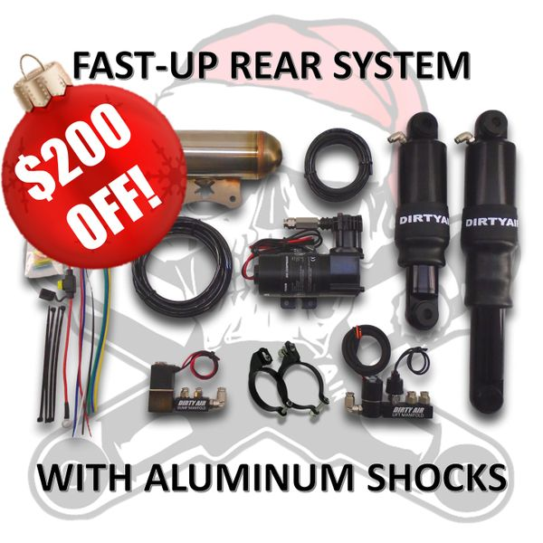 BLACK FRIDAY SALE4 - DIRTY AIR Rear Air Suspension System FAST-UP with ALUMINUM SHOCKS