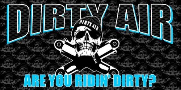 """DIRTY AIR Store Banner - 16"""" x 32"""" BLUE"""