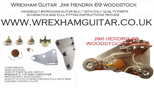 Super Jimi Hendrix 69 Woodstock Reproduction Stratocaster Strat Wiring Wiring Digital Resources Millslowmaporg