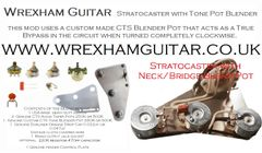 Stratocaster Strat Neck / Bridge Tone Blend Pot Wiring Kit