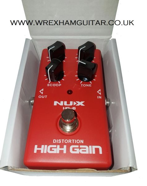 NUX HG-6 MODERN HIGH GAIN DISTORTION GUITAR EFFECTS PEDAL
