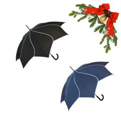 "holiday deal combo - 1 black and 1 navy ""Shaped like a flower"" umbrella 25% off"