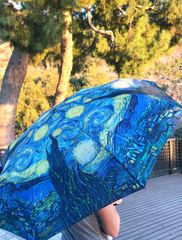 Heavy duty compact umbrella - Van Gogh Starry nights