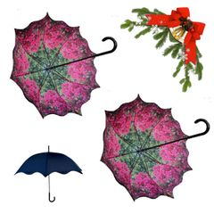 holiday deal combo - 2 bougainvillea floral pattern umbrellas 25% off
