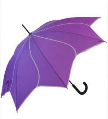 NEW COLOR! PURPLE/WHITE PETAL SHAPED UMBRELLA/PARASOL