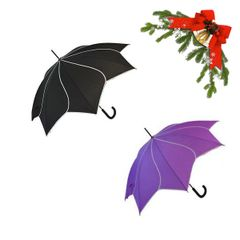 "holiday deal combo - 1 black and 1 purple ""Shaped like a flower"" umbrella 25% off"
