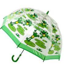 Kids frog umbrella - Clear PVC
