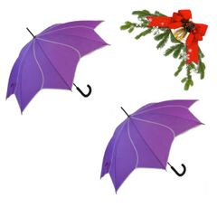 "holiday deal combo - 2 purple ""Shaped like a flower"" umbrellas 25% off"