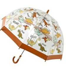 Kids dino umbrella - Clear PVC