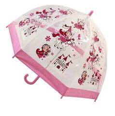 Kids princess umbrella - Clear PVC