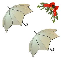 "holiday deal combo - 2 cream ""Shaped like a flower"" umbrellas 25% off"