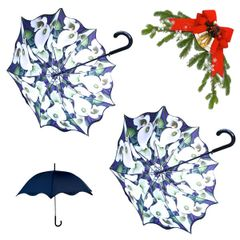 holiday deal combo - 2 Calla Lilly floral pattern umbrellas 25% off