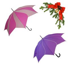 "holiday deal combo - 1 pink and 1 purple ""Shaped like a flower"" umbrella 25% off"