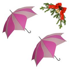 "holiday deal combo - 2 pink ""Shaped like a flower"" umbrellas 25% off"