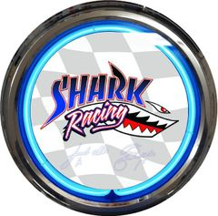 Shark Racing Neon Clock