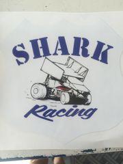 Vintage Shark Racing Decal