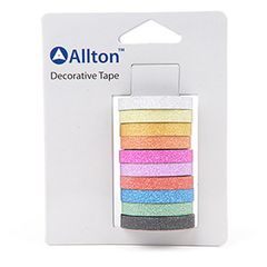Glitter Decorative Tape, 10 Colors, SKU: TPH120028