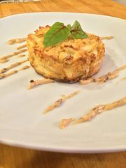 Sold Out! Tues., Oct. 30th: Baltimore Crab Cakes with a Warm Old Bay Potato Salad and a Fall Succotash (Time to Cook: 30 min.)