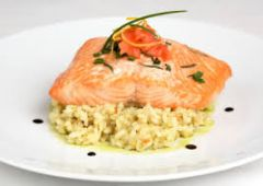 Previous Item: Sustainably-Raised North Sea Salmon with a Charred Wild Ramp Pistou over Lemon Risotto ($16 Per Person / Time to Cook: 30 min. / Cook by Day: Friday)