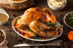 Nov. 20th-21st: Thanksgiving Special: Air-Chilled Black Heritage Turkey (16lbs - 14-16 people), Herb Stuffing, Mashed Potatoes, Haricot Vert and Cranberry Chutney