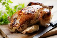Tues-Fri. Dec 18th-21st: Roast Chicken with Root Vegetables, Options: 1) Traditional, 2) Moroccan with Preserved Lemon, 3) Panko Breadcrumb Stuffed 4) Sesame Ginger 5) BBQ (Serves 3-4 / Time to Cook: 1-1:15 Hours (none active))