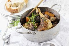 Thur., Jan. 24th: Coq au Vin (Wine Braised Chicken) - (Time to Cook: 30 min. / Cook by Day: Monday)