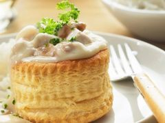 Available this Fall! Tues., Sept. 4th: Vol-au-Vent de Volaille et Champignons (Chicken in Puff Pastry with Mushrooms & Pickled Tongue (optional)) - $16 Per Person / Time to Cook / Cook by Day: Sunday)