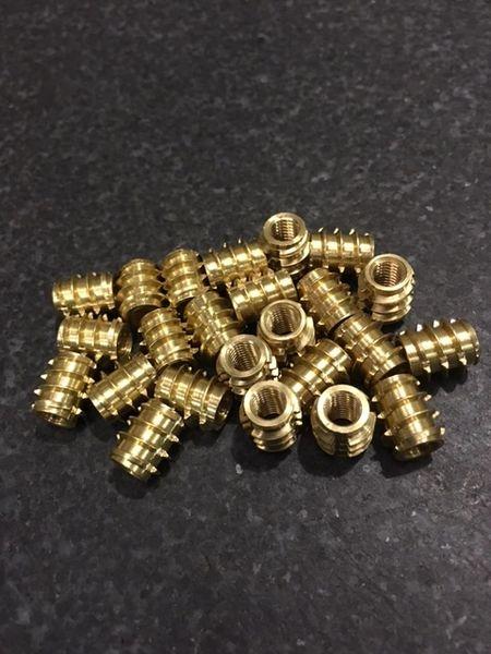 Grainger Threaded Brass Insert - M2.5 - Bulk Pack