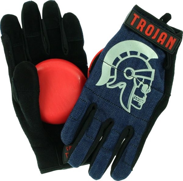TROJAN DENIM SLIDE GLOVE w/ VENOM PUCKS- BLUE
