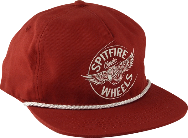 SPITFIRE FLYING CLASSIC SNAPBACK HAT - MAROON