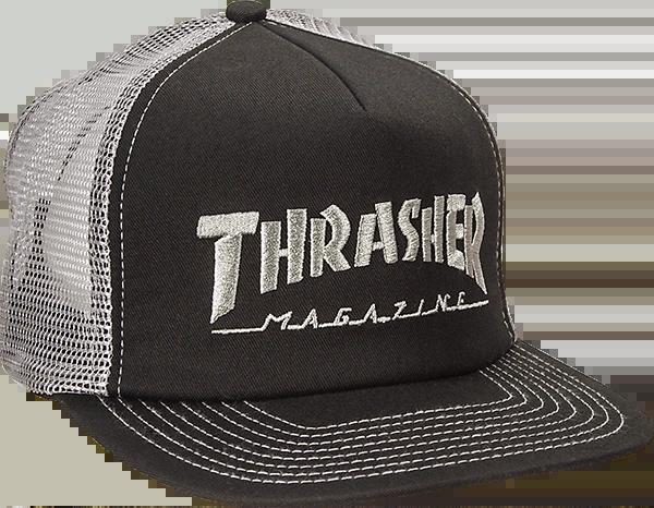 THRASHER LOGO EMBROIDERED MESH HAT