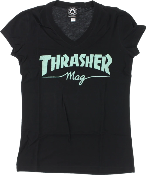WOMEN'S THRASHER MAG LOGO V-NECK SS - (2 OPTIONS)