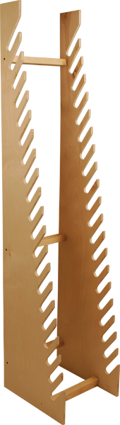 STANDING WOOD BOARD RACK - 20 SLOTS