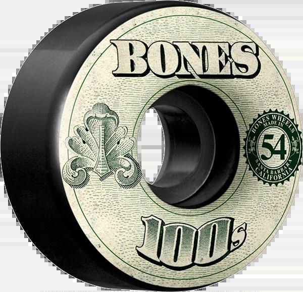 BONES 100's OG W/MONEY BLACK- (Set of 4)