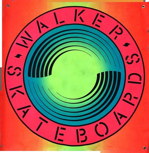 "WALKER SKATEBOARDS BANNER - 36"" x 36"""