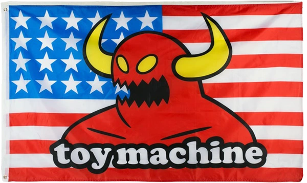 "TOY MACHINE AMERICAN MONSTER FLAG 36""x60"""