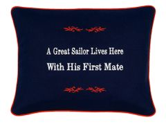 Item # P389 A great sailor lives here with his first mate.