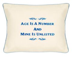 Item # P123 Age is a number & mine is unlisted.