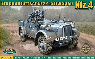 1/72 WWII Truppen-Luftschutz-Kraftwagen Kfz4 German Anti-Aircraft Vehicle - ACE 72512