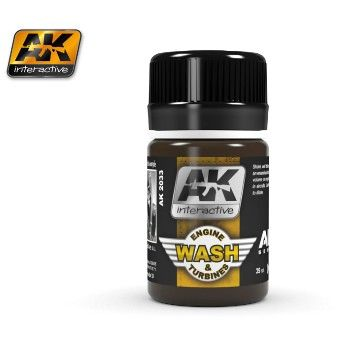 Air Series: Engine & Turbines Enamel Wash 35ml Bottle - AK Interactive 2033
