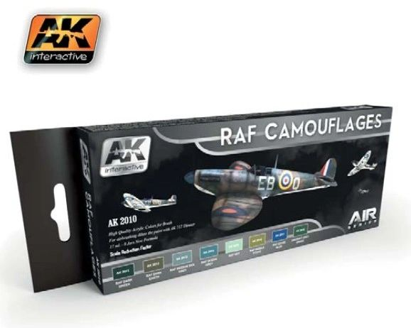 Air Series: RAF Camouflages Acrylic Paint Set (8 Colors) 17ml Bottles - AK Interactive 2010
