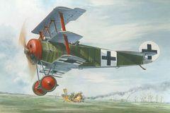 1/32 Fokker Dr I Red Baron WWI German Triplane Fighter - Roden 601
