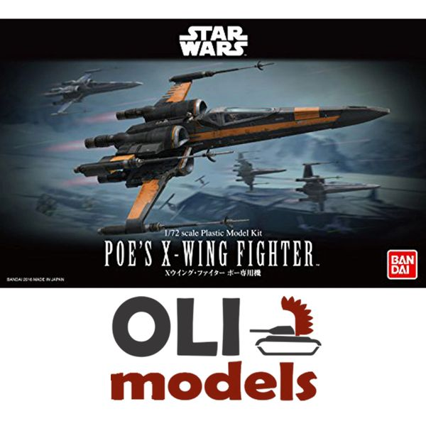 1/72 Star Wars the Force Awakens: Poe's X-Wing Fighter - Bandai 210500